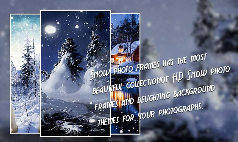 Snowfall Photo Frames- screenshot