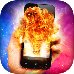 Fire In Phone Prank Icon
