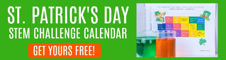 st patricks day stem calendar