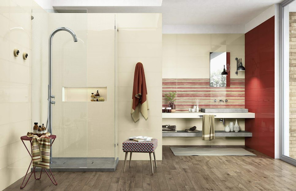 Ragno Frame - Bordó, cream fürdőszoba