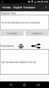 Yoruba - English Translator