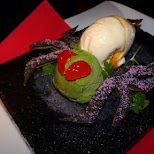 ice cream spider, delicious dessert at Vampire Cafe in Tokyo in Tokyo, Tokyo, Japan