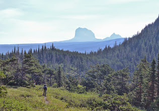 Photo: On the way to Elizabeth Lake, with Chief Mountain on horizon. Remember - This was 2014. The three of us climbed Chief Mountain in 2017.