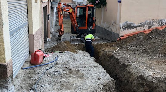 Obras de mejora en la calle San Agustín de Cuevas del Almanzora
