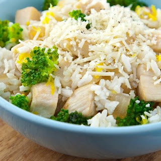 Lemon-Parmesan Chicken and Rice Bowl