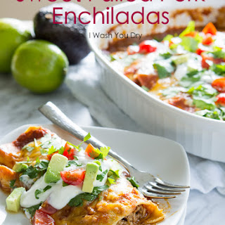 Sweet Pulled Pork Enchiladas