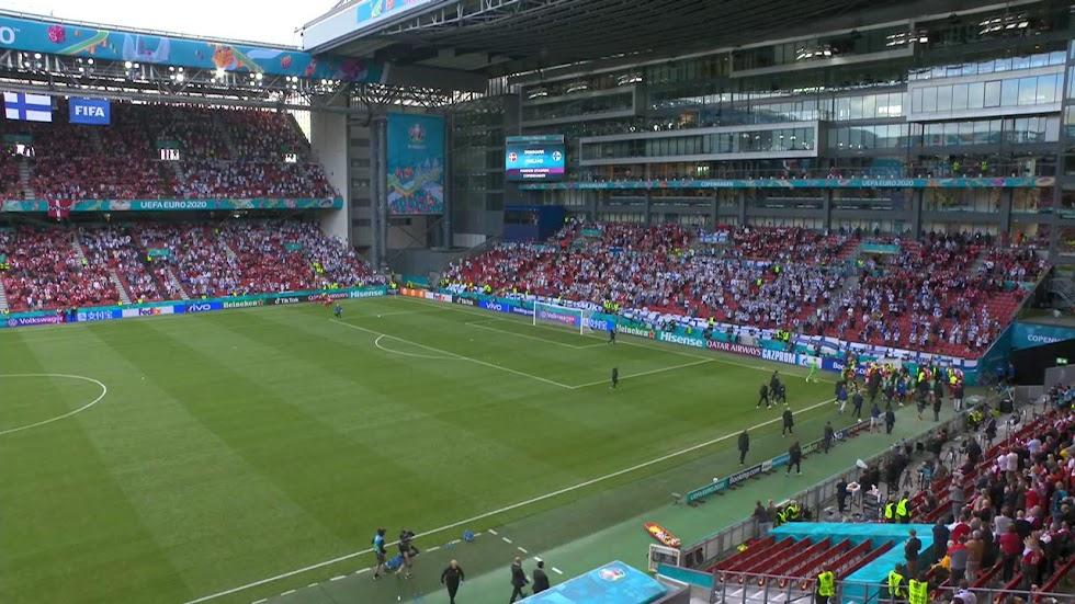 El Estadio, completamente en silencio.