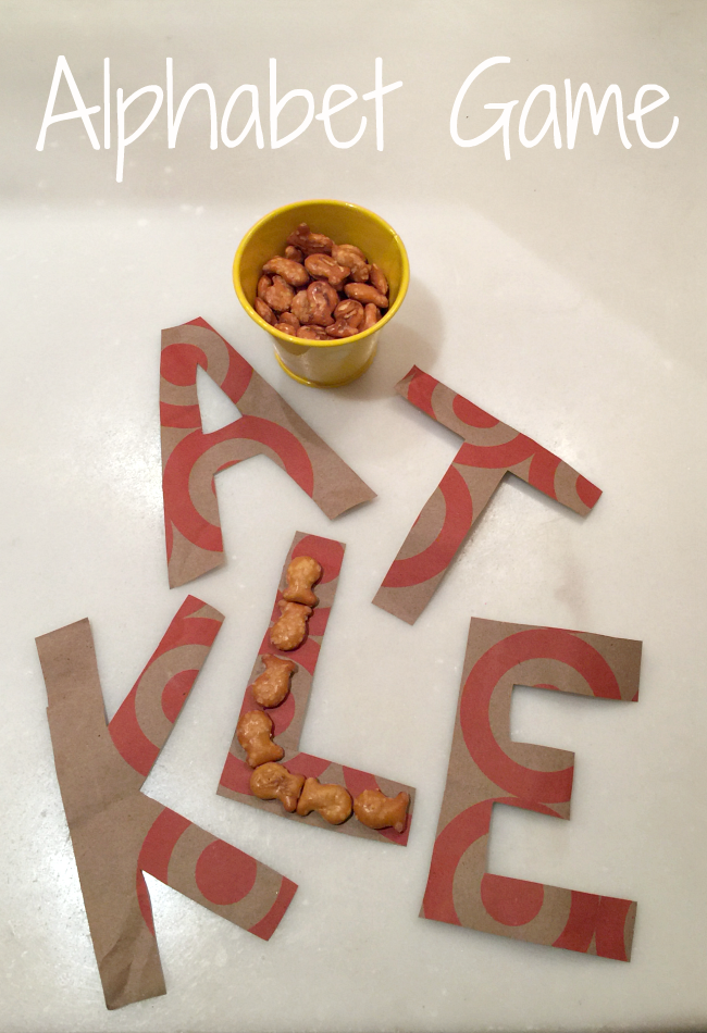 Alphabet Game with Goldfish for Preschoolers