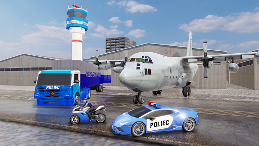 US Police Transporter Plane Simulator screenshot 1