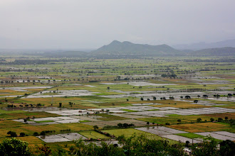 Photo: Year 2 Day 55 -  Flooded Fields and the Shan Hills