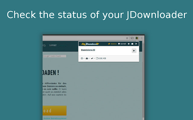 MyJDownloader Browser Extension