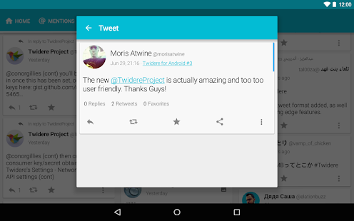 Twidere for Twitter- screenshot thumbnail