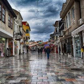 Ohrid by Katerina Mavrovska - City,  Street & Park  Street Scenes