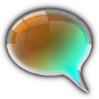 GO SMS CyanOrangen Glass Theme icon
