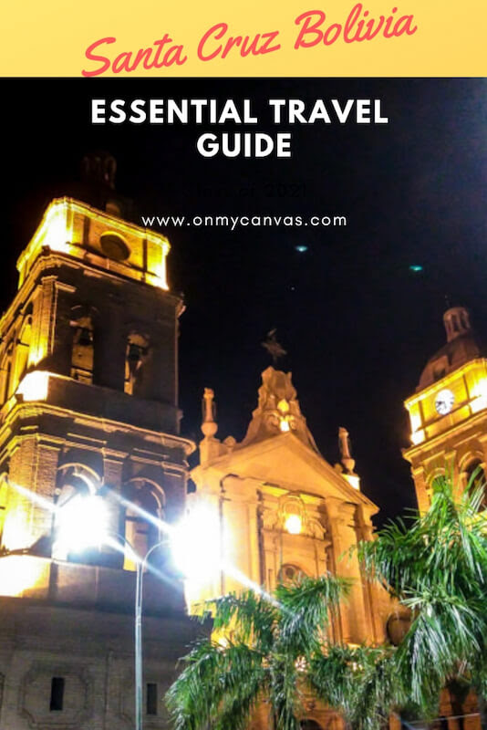 pinterest image of cathedral basilica of st lawrence in santa cruz in bolivia