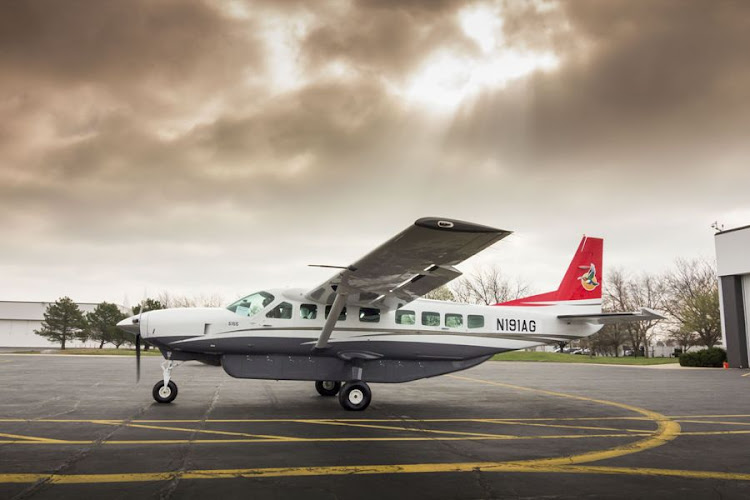 One of four Cessna Grand Caravan aircraft bought by SA Airlink in a finance deal with Nedbank Capital to transport holidaymakers to upmarket game lodges in Mpumalanga. Picture: SUPPLIED