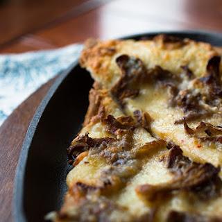 Oyster Mushroom & Homemade Ricotta Flatbread.