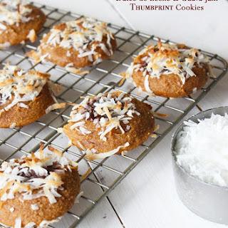Dulce de Leche & Guava Jam Thumbprint Cookies {grain free}.