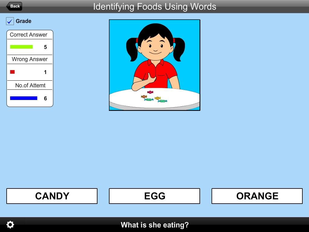 Identifying Foods Using Words- screenshot