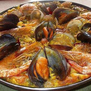 Home Paella With Mussels And Shrimp.