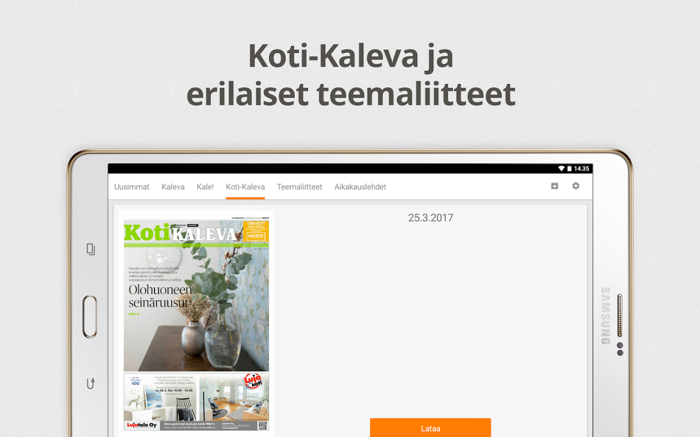 eKaleva- screenshot