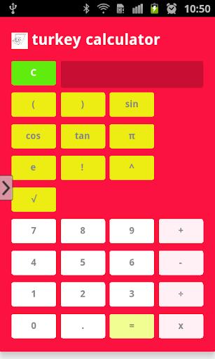 Turkey Calculator