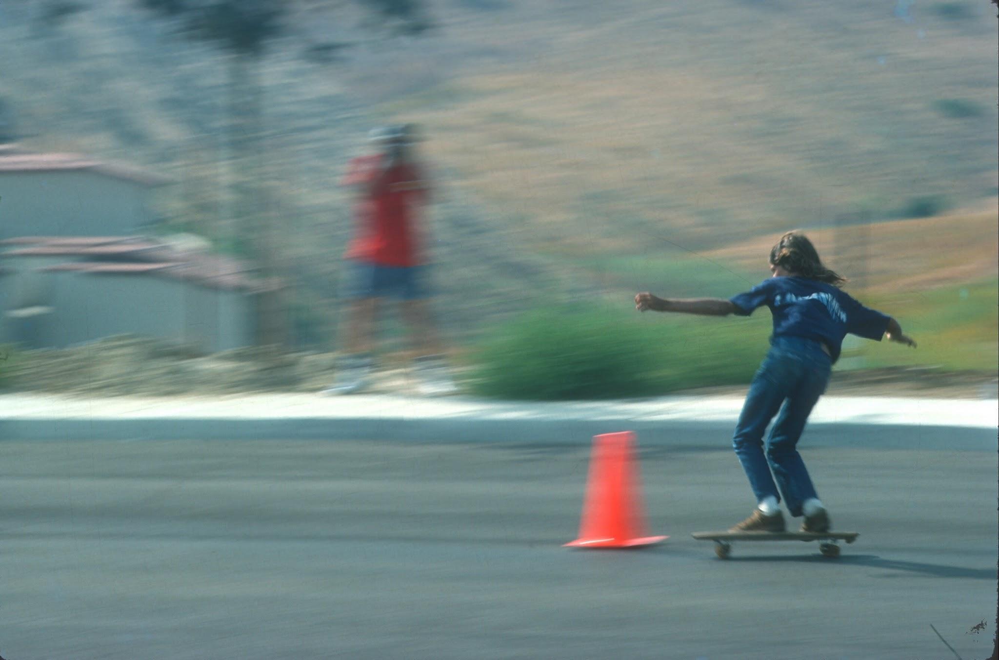 Photo: Speeding through the cones at La Costa (Warren Bolster in Background)