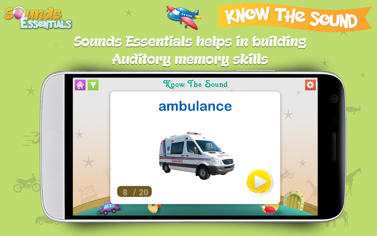 Sounds Essentials - Learn and Identify Sounds- screenshot