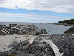 Photo: View looking northwest from my campsite at Cape Fox.