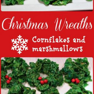 Christmas Wreath Candy - Cornflakes and Marshmallows