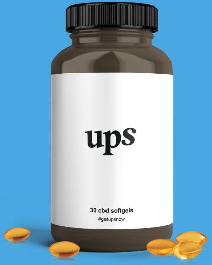 Bottle of 30 UPS Wellness CBD Softgels