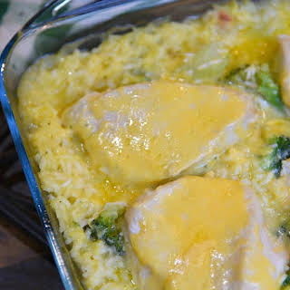 Cheesy Chicken Broccoli Casserole.
