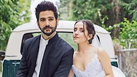 Camilo y Evaluna durante el rodaje de un videoclip de su nueva canción: 'Índigo'.