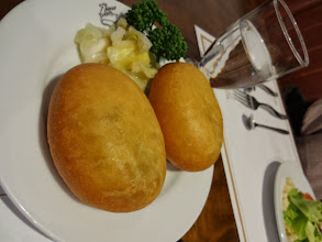 """Photo: We visited a Russian restaurant in Fukuoka named """"Tundra (тундра)"""" (https://plus.google.com/110539322863014104231/about?gl=jp&hl=en). The restaurant runs more than 60 years now and still remains popular. Interestingly, they also call the tea """"Chai"""". Russian Chai was black tea with an elegant infusion of strawberry jam. The photo is Piroshki (пирожки) fried buns filled with minced meat, rice noodle and chopped onions, very yummy. 10th December updated -http://jp.asksiddhi.in/daily_detail.php?id=388"""