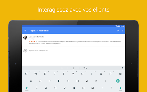Google My Business Capture d'écran