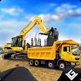 Heavy Road Excavator Crane icon