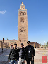 Photo: at the Koutoubia Mosque in Marrakech with my Moroccan friends Ismail and Youssef