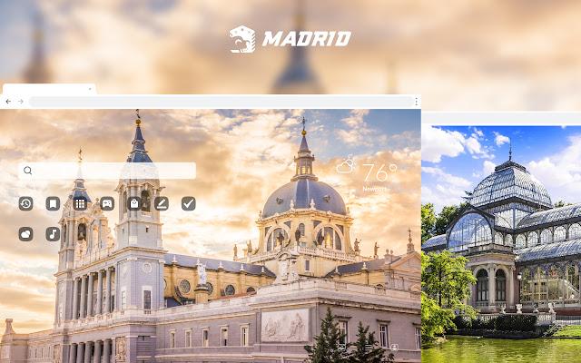 Madrid City HD Wallpapers New Tab Theme
