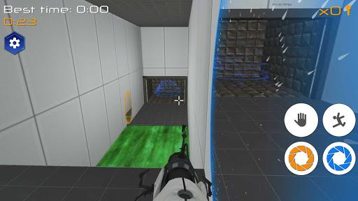 Portal Maze 2 - Aperture spacetime jumper games 3d 1.4 screenshots 6
