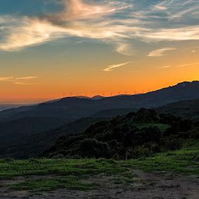Nighty night by Torsten Funke - Landscapes Sunsets & Sunrises ( clouds, gibraltar, traveling, colors, sunset, andalucia, travel, landscape, africa, spain, roadtrip )