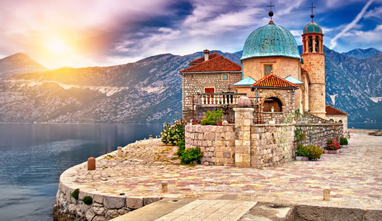 "Azamara's ""Private Journeys"" program includes a visit to a tiny island church with hidden Baroque art in Kotor, Montenegro."