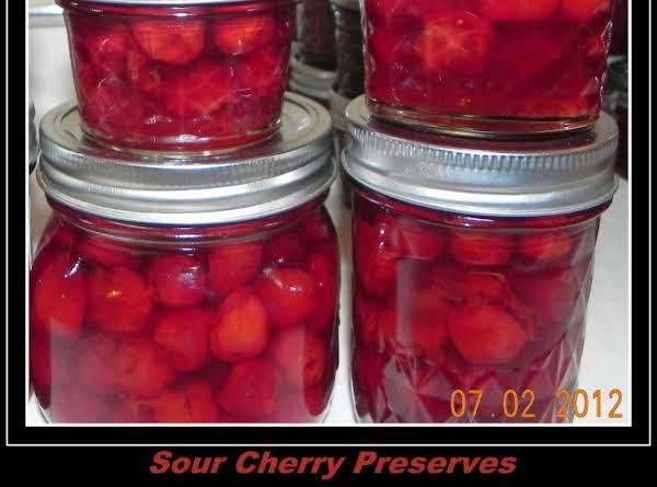 Sour Cherry Preserves Recipe