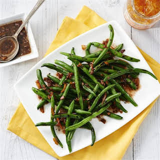 Grilled Green Beans with Citrus Vinaigrette.