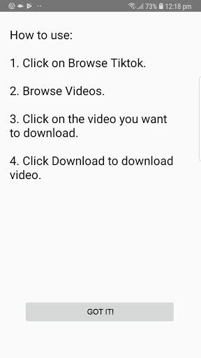 Video Downloader for Tiktok 1.3.9.4 screenshots 1