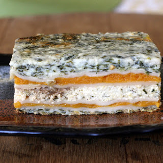 Butternut Squash, Caramelized Onion and Spinach Lasagna