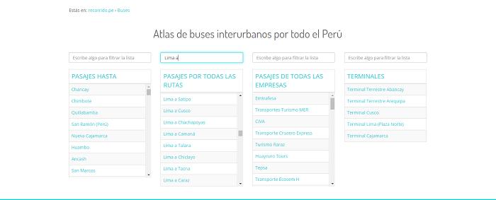 Para comprar tus pasajes en bus podrás conocer las ciudades de salida hasta tu destino