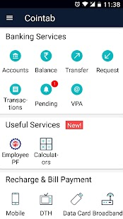 Cointab - BHIM UPI Money Transfer, Bank Balance- screenshot thumbnail