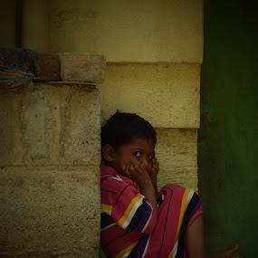 Little boy in the slums of Bangalore by Matthias Mievis - People Street & Candids ( #, #slums, #8april2016, #bangalore, #india )