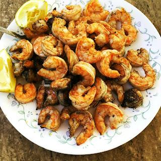 Spicy Greek Grilled Shrimp
