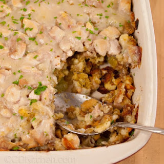 Healthy Chicken And Stuffing Casserole